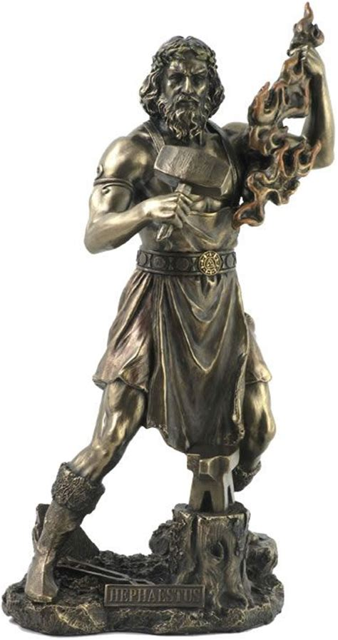 greek gods statues hephaestus greek god of fire statue sculpture figurine