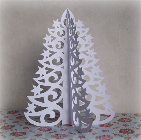 Paper Tree Craft - diy paper tree with printable template diy