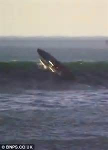 driving boat in waves dramatic moment a 163 600k powerboat is flung 40ft into the