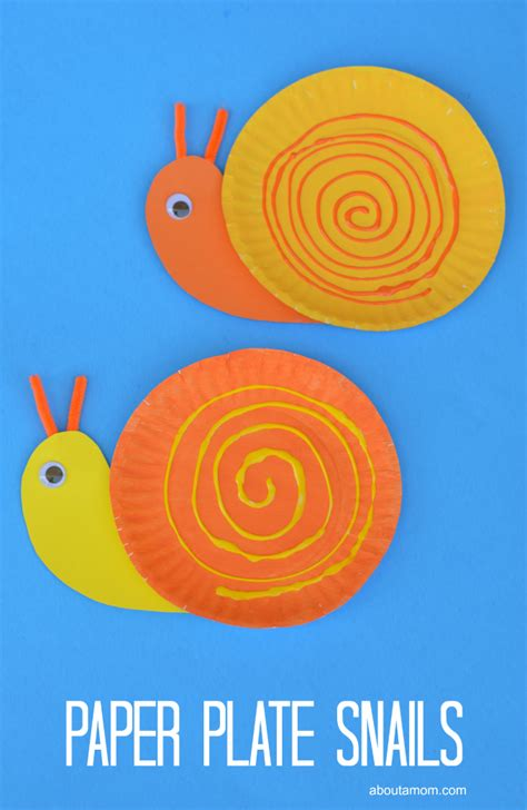 paper plate snail craft pape plate snail craft for about a