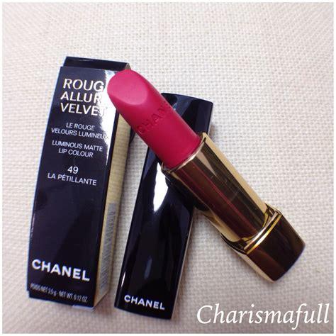 Chanel Lipstick Velvet chanel 49 la petillante velvet lipstick reviews photos w swatches charismafull
