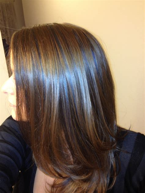 light brown hair with highlights blue highlights on light brown hair short haircuts