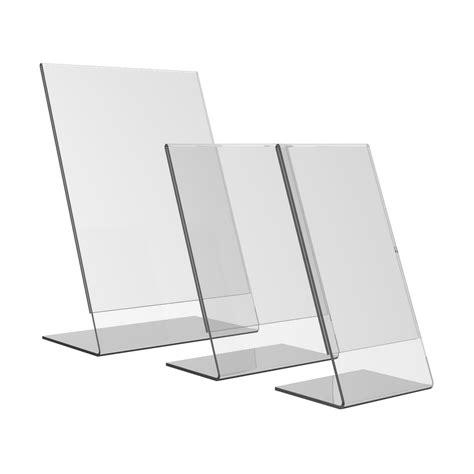 Display Menu Akrilik Brosur Akrilik jual akrilik slant display stand brosur ukuran berkualitas