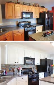white kitchen cabinets before and after kitchen cabinet makeover reveal how to nest for less