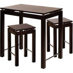 Walmart Kitchen Island Table Linea Kitchen Island 3 Breakfast Set Espresso Walmart