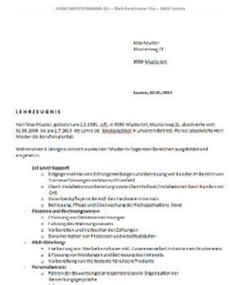 Musterbrief Kv Schweiz Lehrzeugnis Vorlage Schweiz Muster Und Vorlagen Kostenlos