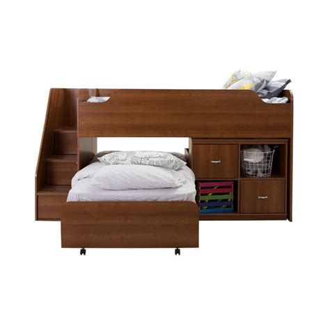 twin bed with trundle and storage mobby morgan cherry twin loft bed with trundle and storage