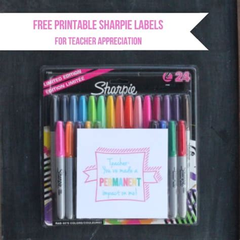 printable teacher appreciation sharpie labels skip   lou