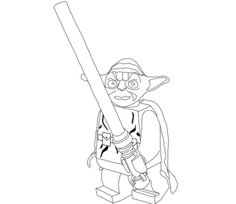 cute yoda coloring pages print lego star wars yoda holding lightsabers coloring