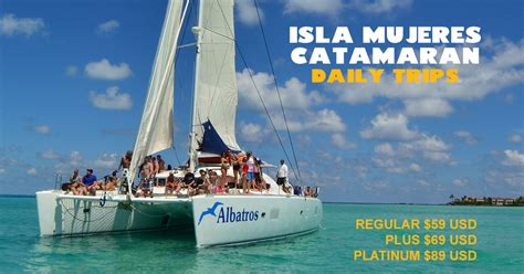catamaran cruise to isla mujeres cancun isla mujeres catamaran regular tour 47 00 usd