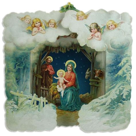 printable nativity scene christmas cards 423 best images about x mas vintage kids on pinterest