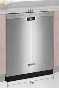 kitchenaid stainless steel 24 quot dishwasher kdfe104dss