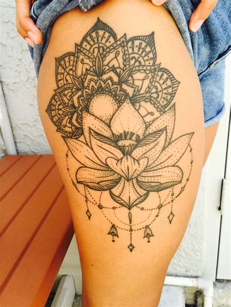 tattoos on the thigh 17 best ideas about lotus mandala on