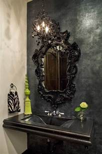black mirror for bathroom best gothic black mirrors home decor ideas