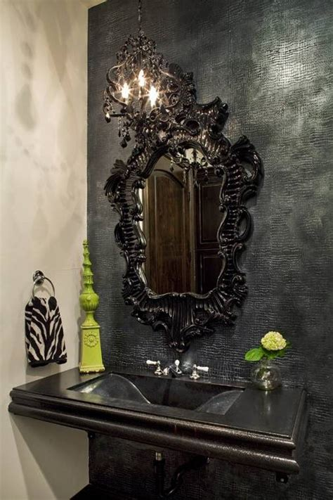 black mirror bathroom gothic bathroom decor on pinterest gothic bathroom