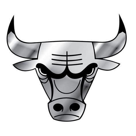 Chicago Bulls Logo Outline by Chicago Bulls Car Auto 3 D Chrome Silver Team Logo Emblem Nba Basketball Ebay