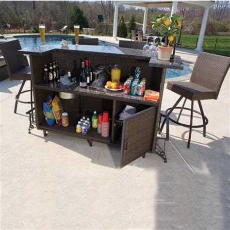 Outdoor Bar Set With Storage The Interior Design Patio Furniture Bar Set