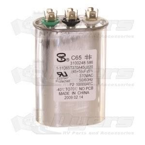 start capacitor dometic dometic a c run start fan capacitor 45 5 mfd air conditioner parts air conditioners rv