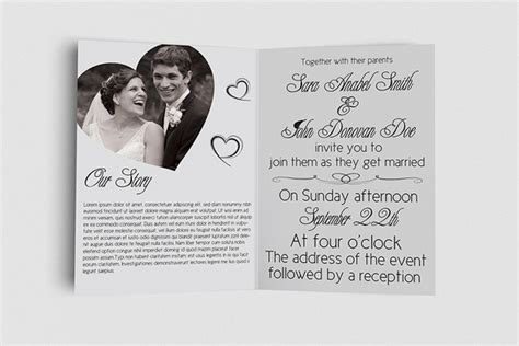 free editable wedding invitation cards templates inside view of classical indian wedding invitation card