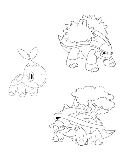 pokemon coloring pages torterra free coloring pages of pokemon torterra