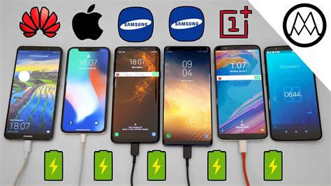 samsung s9 s9 vs mate 10 pro vs iphone x charging speed test