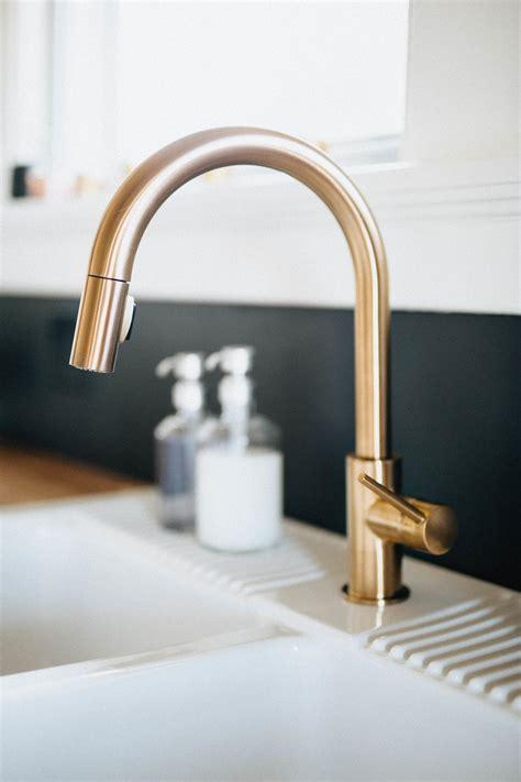 gold kitchen faucet our diy kitchen remodel honest artistic the brauns columbus dayton cincinnati