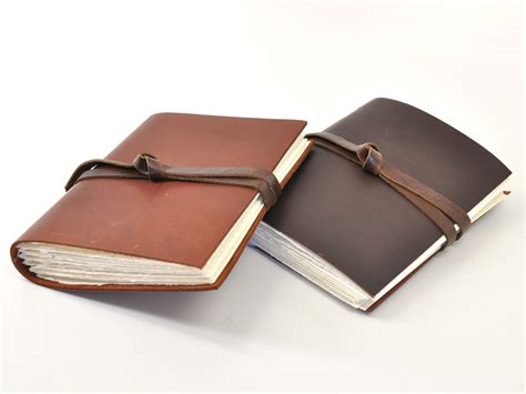 How To Make Handmade Leather Journals - dusty road handmade leather journal bick bookbinding