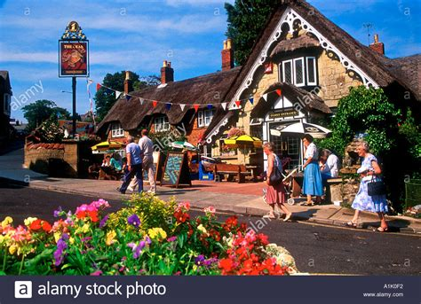 buy house isle of wight thatch roof crab public house shanklin isle of wight england stock photo royalty free