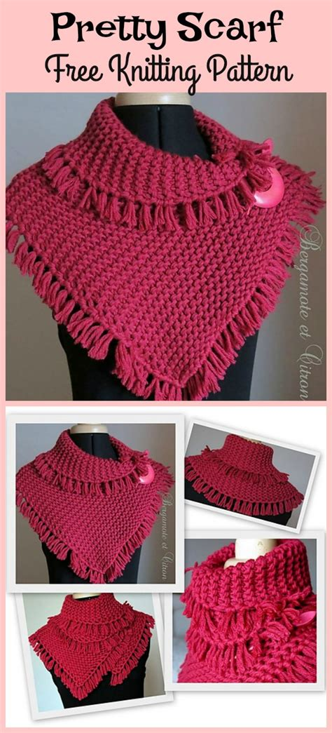 knitting pattern scarf with tassels pretty tassels scarf free knitting pattern