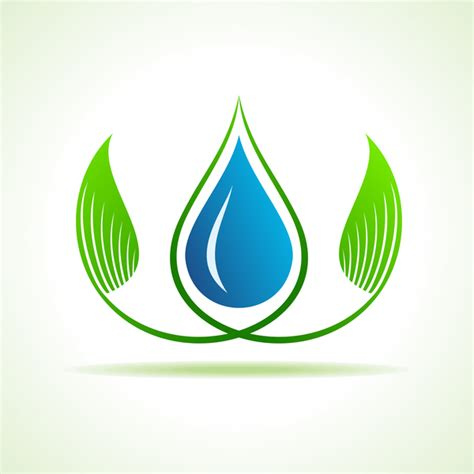 Free Logo Design And Save | save water and environment concept stock vector free