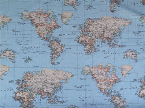 world map upholstery fabric world map print designer upholstery and curtain fabrics