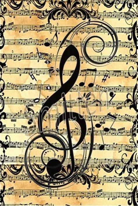 imagenes musicales retro clave de sol fondos pinterest