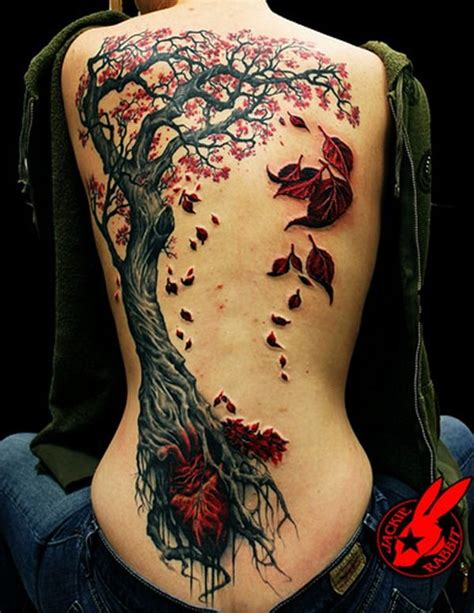 Tattoo Back Tree | 12 ultra prettty tree tattoos on back pretty designs