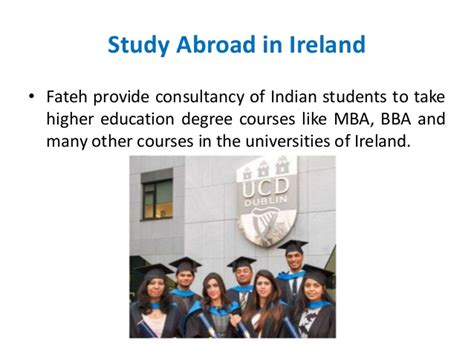 Mba In Ireland For Indian Students by Fateh Education Study Abroad In Uk And Ireland
