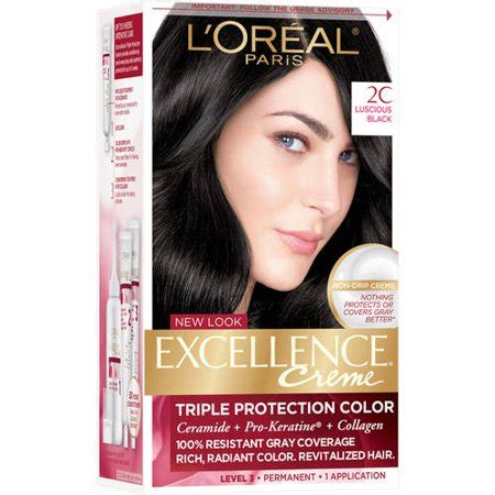 l oreal excellence creme protection permanent hair color creme medium brown 5 1 0 l oreal excellence creme protection hair color kit black 2c walmart