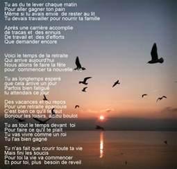 poeme poeme retraite parole parole