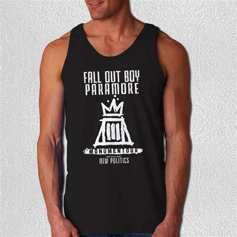 Fall Out Boy Paramore Monumentour 1 Shirt fall out boy paramore monumentour tank top by piteshatee we it clothing cotton