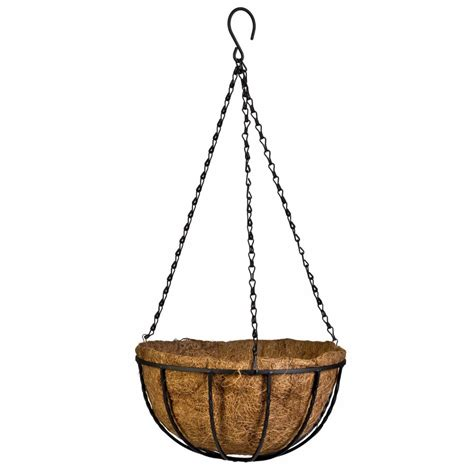 flower hanging basket wrought coconut flowerpot rattan