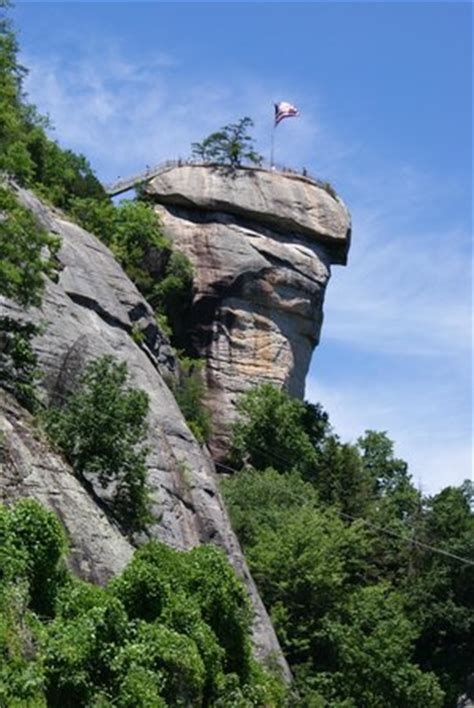 falls picture of chimney rock state park, chimney rock