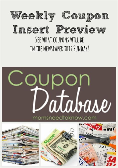 printable 2015 coupon insert schedule coupon insert preview week of january 8 2017 moms