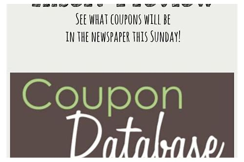 coupon inserts sunday coupon preview