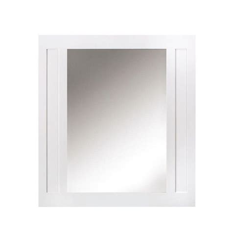 home decorators mirror home decorators collection aberdeen 33 in w x 36 in h wall mirror in white 8104500410 the