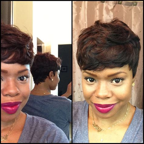 pixie style with tara bump 29 piece weave hairstyles fade haircut