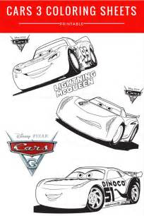 Disney Pixar Cars 3 Coloring Sheets Free Printable Mommadjane