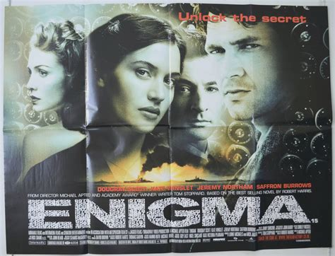 film enigma 2001 online enigma 2001 original cinema quad movie poster dougray