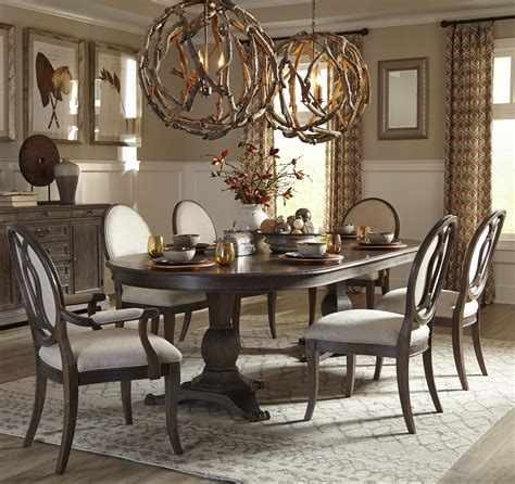 7 pedestal dining table set by a r t