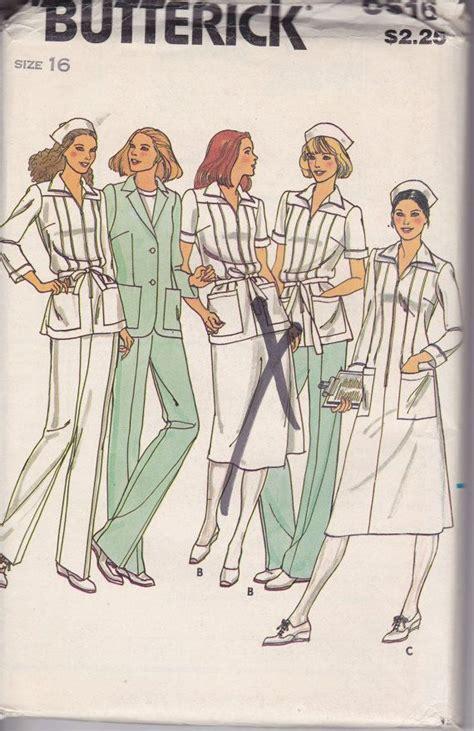 Vintage Nurse Pattern | vintage nurses uniform sewing pattern nurses