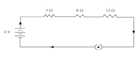 three resistors are connected in series across a battery the value of each resistance draw a schematic diagram of a circuit consisting of a battery of three cells of 2 v each a 5 ω
