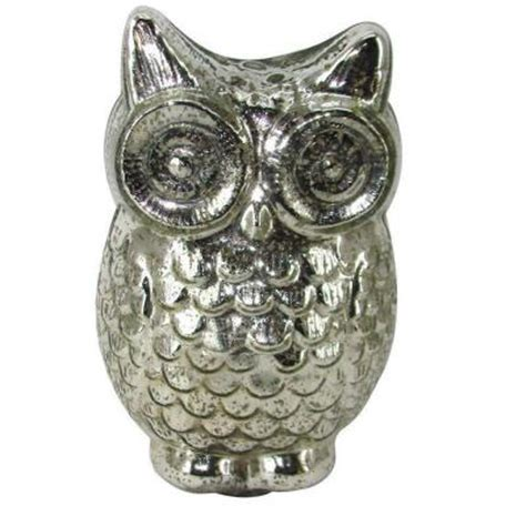 Home Depot Mercury Glass L by Home Decorators Collection 7 5 In H Owl Decorative