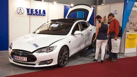 Tesla Partner Tesla Car Goes On Its Journey To The Tesla Partner